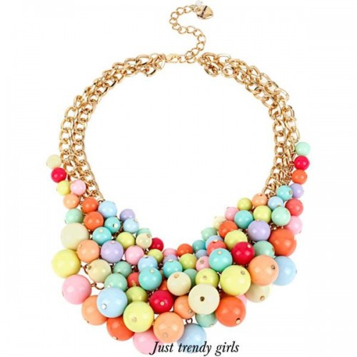 candy colors statement necklace