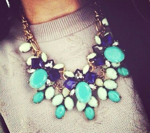 blue and cobalt necklace