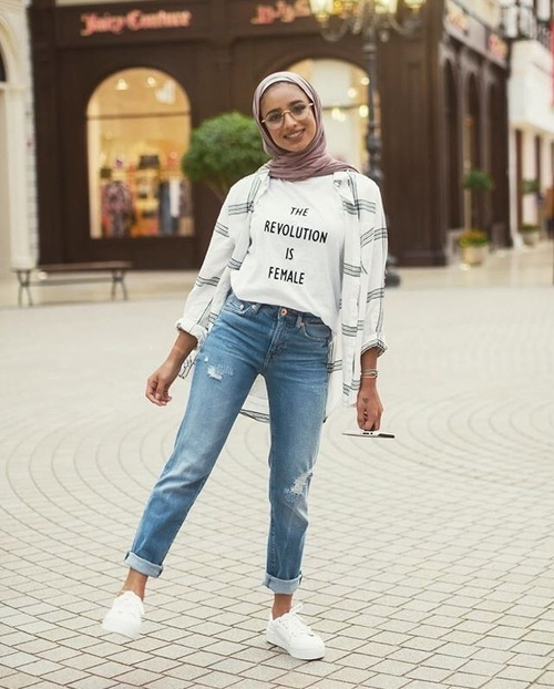 Modern And Fashionable Hijab Outfits Just Trendy Girls