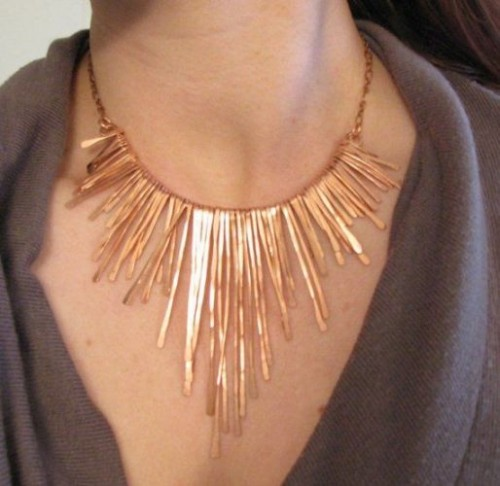 copper Athena necklace