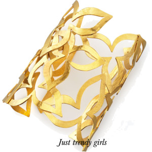 Golden cuffs for woman