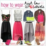 How to wear the high low skirts