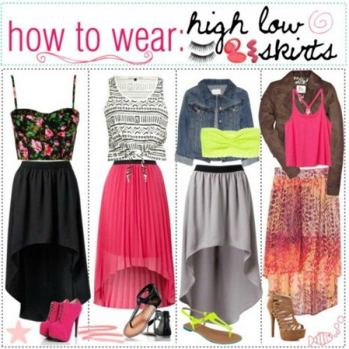how to wear the high low skirt s