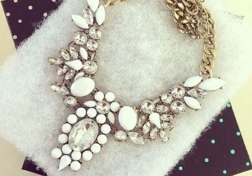 Statement necklaces in pastel colors