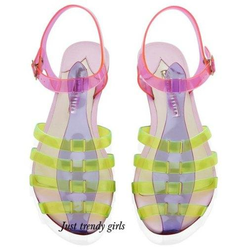 jelly flat sandals 9 s