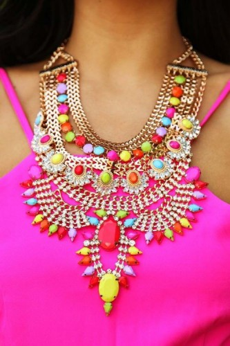 neon colors necklace