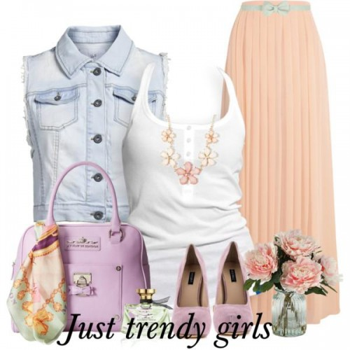 pastel peach  outfit 13