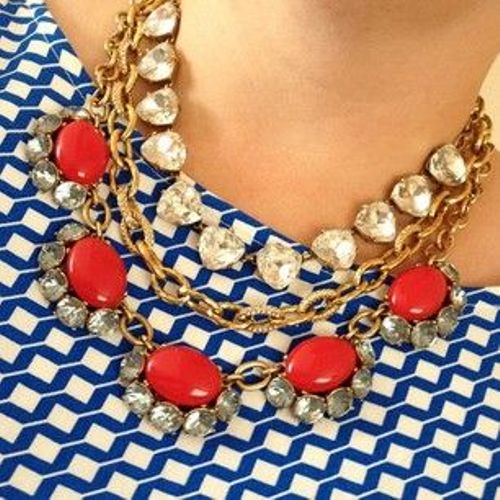 patriotic statement necklace