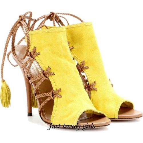 yellow heeled sandals 14 s