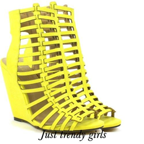 yellow heeled sandals 19 s