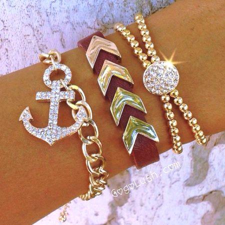gold wire wrap bauble bracelets