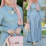 Chiffon and cotton maxi hijab outfits