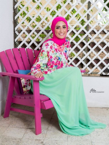 chiffon floral blouses for hijab