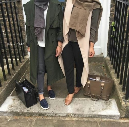 chic hijab fall looks
