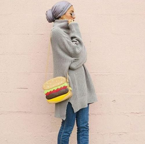 chunky sweater hijab look