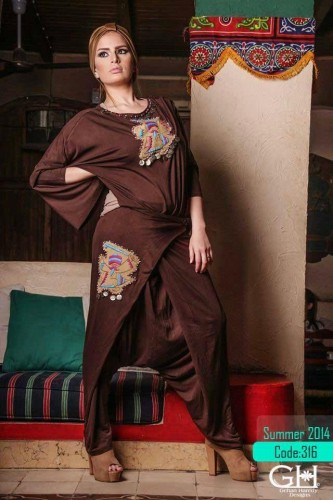 hijab fashion brown jumpsuit a