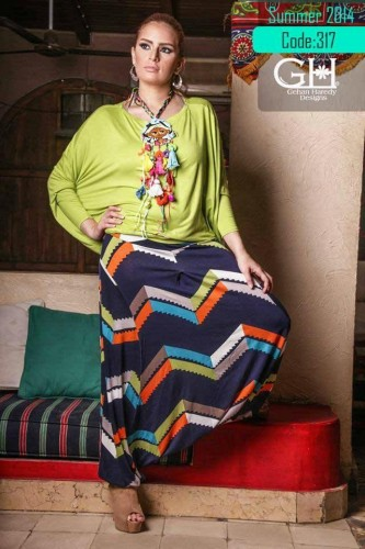 hijab fashion printed wide pant s