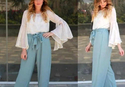 Woman trendy outfits in casual style