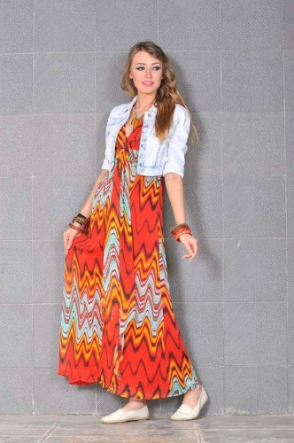 printed long dress 11 d