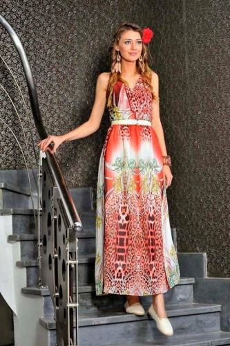 printed long dress 12 s