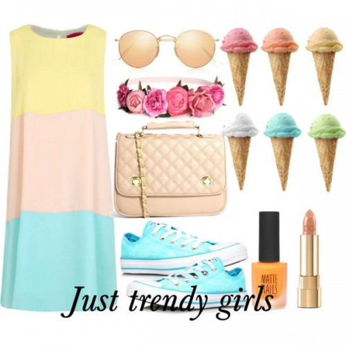 short dress in candy color 3 s