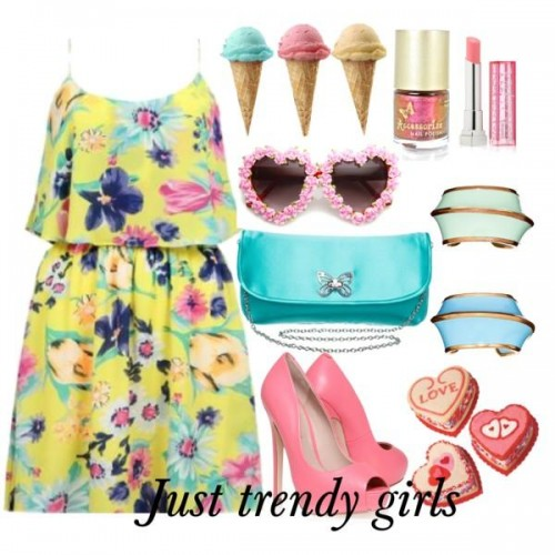 short dress in candy color 6 s