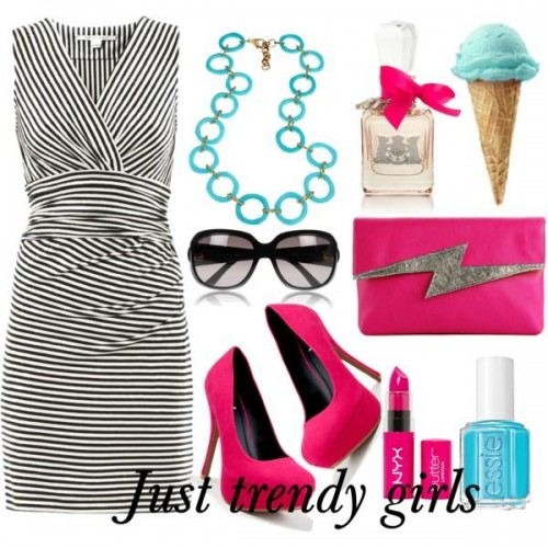 short dress in candy color 7 s
