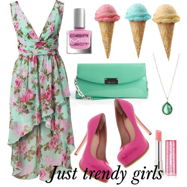Short summer dresses in candy colors