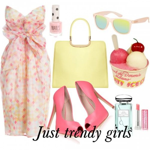 short dress in candy color 9 s