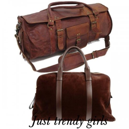 brownish traveling bags 13 s
