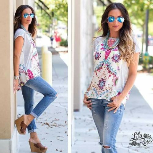casual colorful blouse