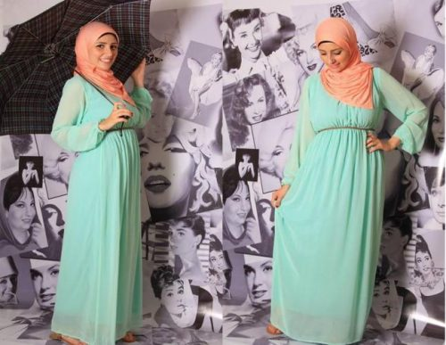 chiffon hijab dress 9