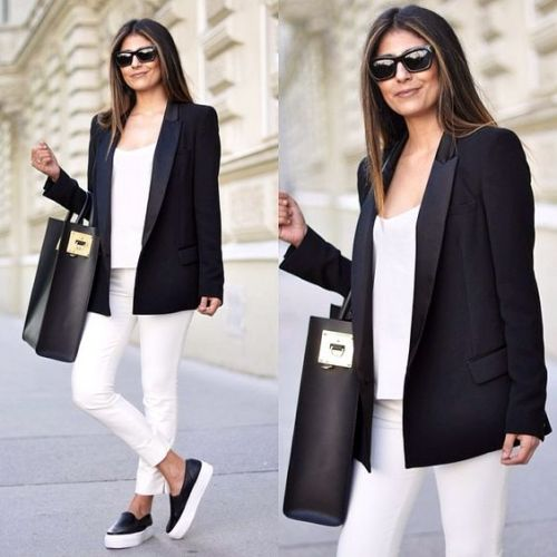 smart casual blazer outfit