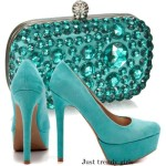 Evening soiree clutches with heels