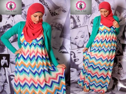 striped hijab dress 2