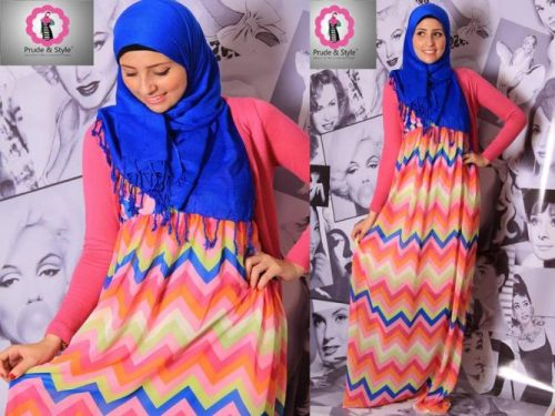 stripped hijab dress 3
