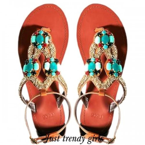 colorful summer sandals 9 s