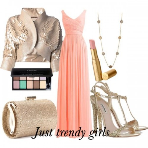 coral evening dress s