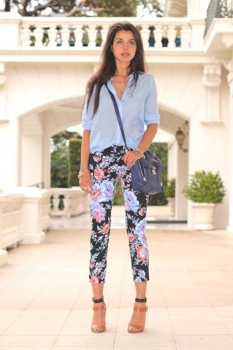 how to wear floral pants 3 s