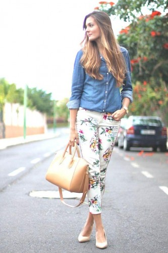 how to wear floral pants 7 s