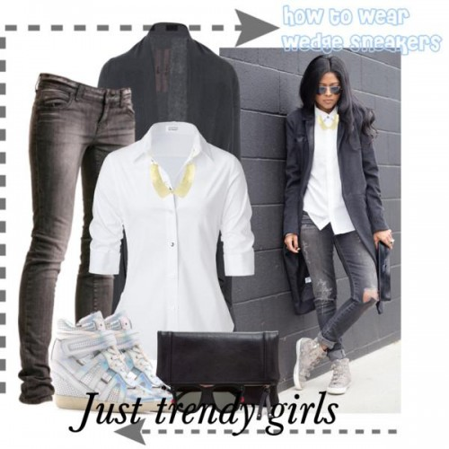 how to wear wedge sneakers 10 s