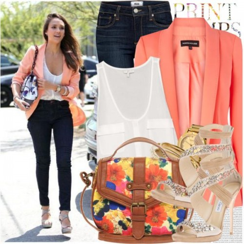 block color blazer
