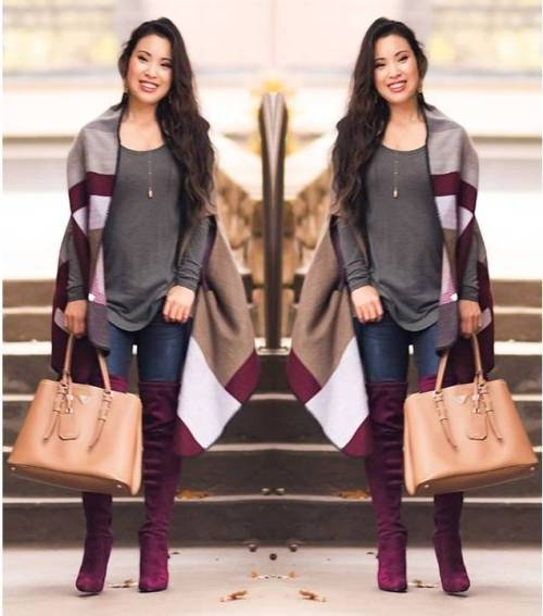 maroon-blancket-outfit