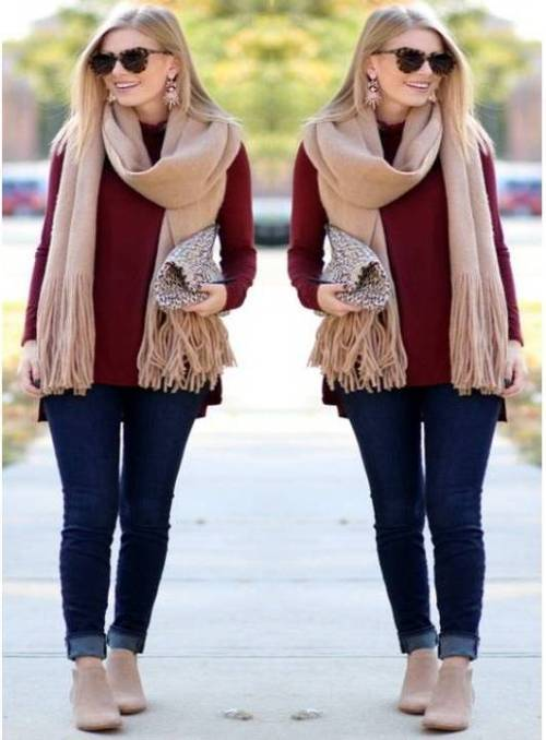 maroon-sweater-with-knit-scarf