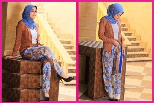 floral pants with hijab