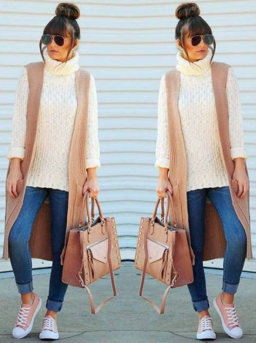 tan-and-creamy-vest-outfit