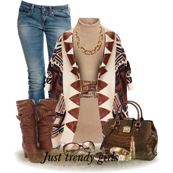 Fashion poncho trends mix and match