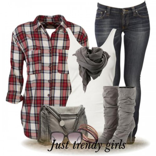 checked shirt style d