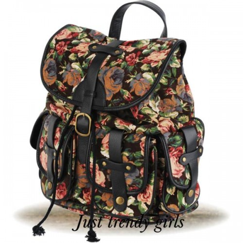 floral bag for college