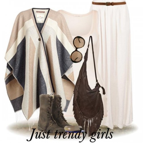 poncho with skirt